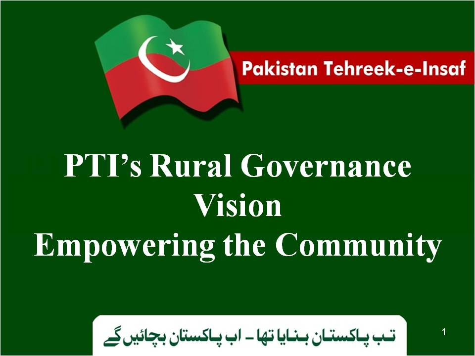 PTI Local Government Policy